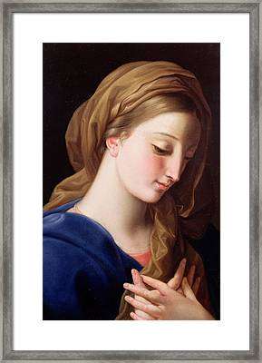 The Virgin Annunciate Framed Print by  Pompeo Girolamo Batoni