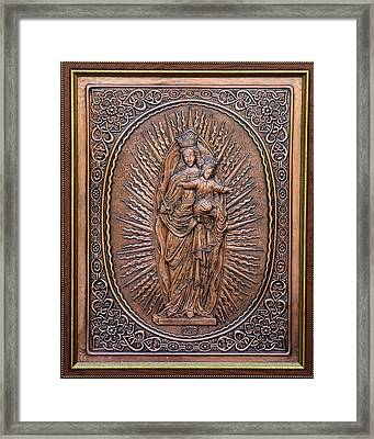 The Virgin Mary With Jesus Christ Framed Print by Netka Dimoska