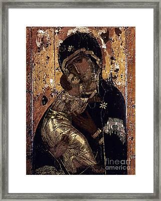 The Virgin Of Vladimir Framed Print by Granger