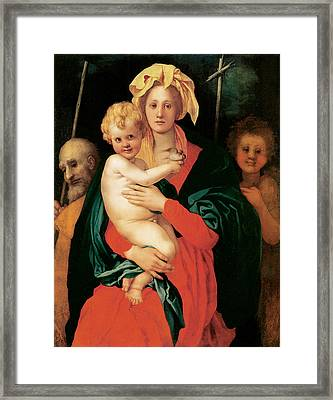 The Virgin With Child Framed Print by Jacopo Da Pontormo