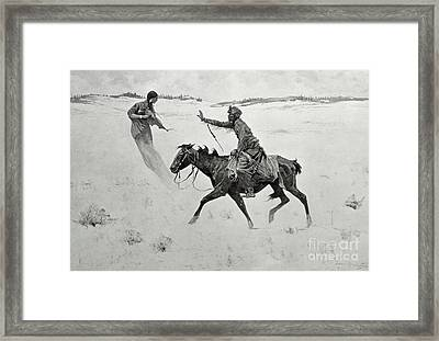 The Vision Framed Print by Frederic Remington
