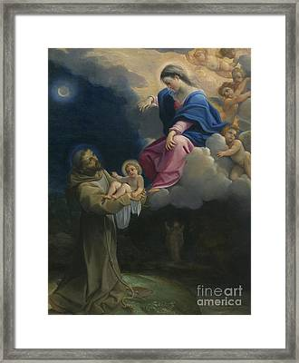 The Vision Of Saint Francis Framed Print by Lodovico Carracci