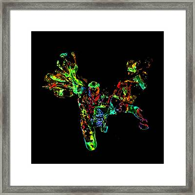 The Vision Paint Splatter Framed Print by Brian Reaves
