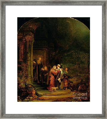 The Visitation Framed Print by  Rembrandt Harmensz van Rijn