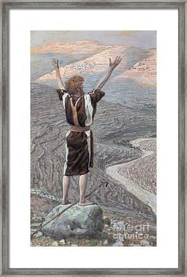 The Voice In The Desert Framed Print by Tissot