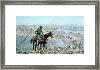 The Wagon Boss Framed Print by Charles Marion Russell