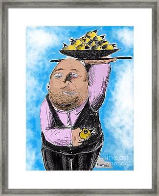 The Waiter Framed Print by Jonathan Plotkin