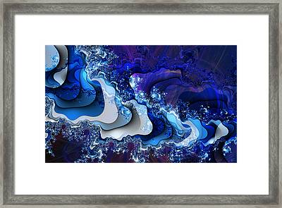 The Wake Of Thy Spirit's Passage Framed Print by Kenneth Armand Johnson