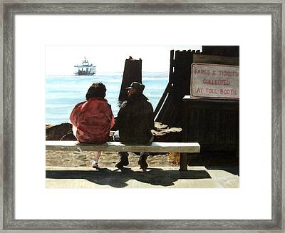 The Walk-ons Framed Print by Perry Woodfin