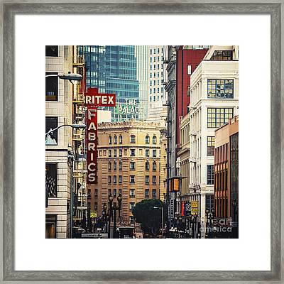 The Walls Of San Francisco Framed Print by Katya Horner