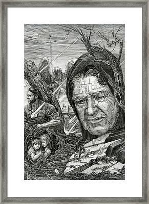The War Framed Print by Irina Sumanenkova