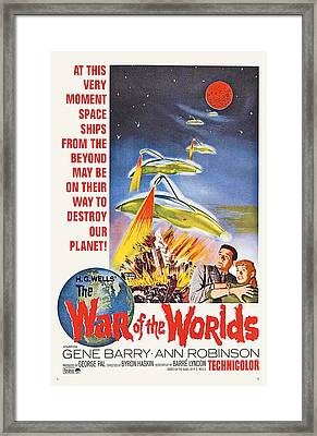 The War Of The Worlds, Bottom From Left Framed Print by Everett