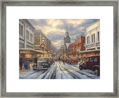 The Warmth Of Small Town Living Framed Print by Chuck Pinson