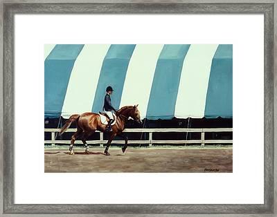 The Warmup Framed Print by Linda Tenukas