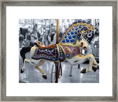 The Warrior Steed Framed Print by Colleen Kammerer