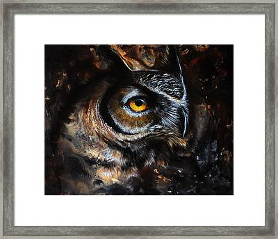 The Watchful Heart Framed Print by Danielle Trudeau