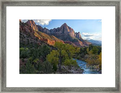 The Watchman And Virgin River Framed Print by Sandra Bronstein