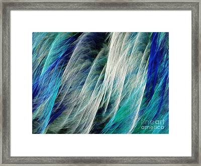 The Waterfall Abstract Framed Print by Andee Design