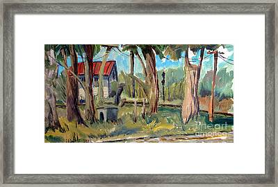 The Watkins Lady And Her Railroadin Man Framed Print by Charlie Spear