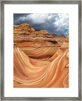 The Wave 1 Framed Print by Melanie and Chris Harman