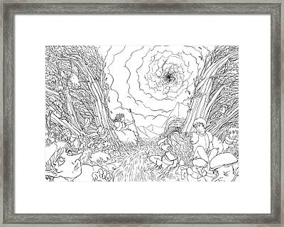 The Wave Of Space And Time Framed Print by Reynold Jay