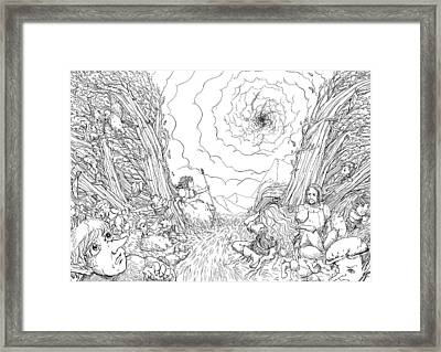 The Wave Of Time And Space Framed Print by Reynold Jay
