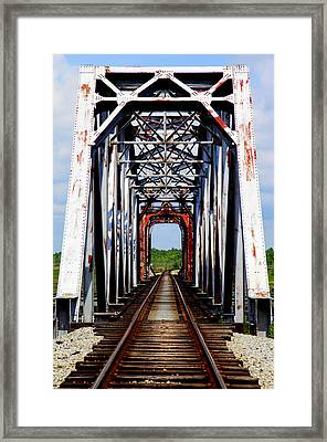 The Way Is Clear Framed Print by Karen Wiles