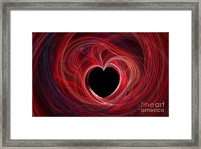 The Way To My Heart Framed Print by Kaye Menner