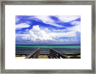 The Way To The Beach 2 Framed Print by Susanne Van Hulst