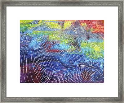 The Weather Map Framed Print by Samantha Choo