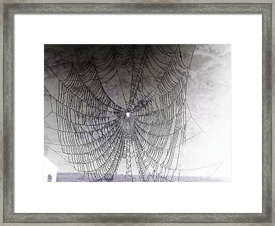The Web We Weave Framed Print by Margaret Hamilton