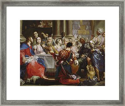 The Wedding At Cana Framed Print by Giuseppe Maria Crespi
