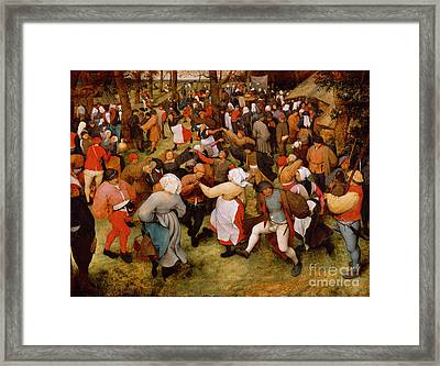 The Wedding Dance Framed Print by Pieter the Elder Bruegel