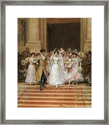 The Wedding Framed Print by Frederik Hendrik Kaemmerer