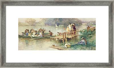 The Wedding Party Framed Print by Ferdinand Heilbuth