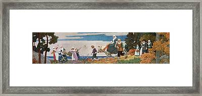 The Wedding Procession Framed Print by Newell Convers Wyeth