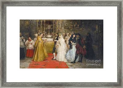 The Wedding Vows, Framed Print by Juan Pablo