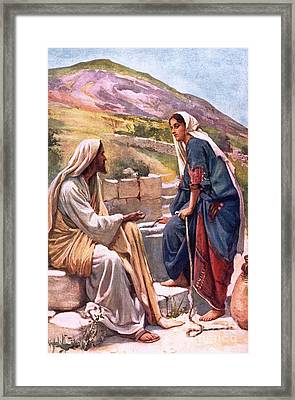 The Well Of Sychar Framed Print by Harold Copping