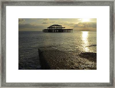 The West Pier Framed Print by Stephen Smith