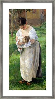 The Wet Nurse Framed Print by Alfred Roll