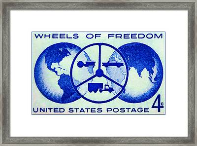 The Wheels Of Freedom Stamp Framed Print by Lanjee Chee