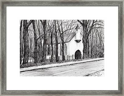 The White Chapel Framed Print by Vincent Alexander Booth