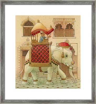 The White Elephant 01 Framed Print by Kestutis Kasparavicius