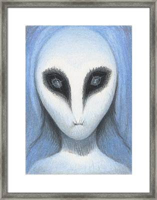 The White Owl Framed Print by Amy S Turner