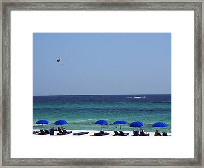 The White Panama City Beach - Before The Oil Spill Framed Print by Susanne Van Hulst