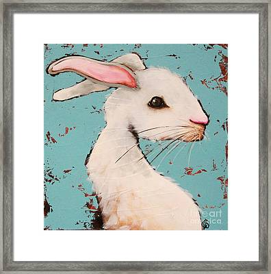 The White Rabbit Framed Print by Lucia Stewart
