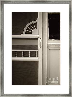 The White Screen Door Framed Print by Margie Hurwich