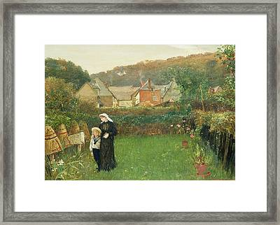 The Widow Framed Print by Charles Napier Hemy