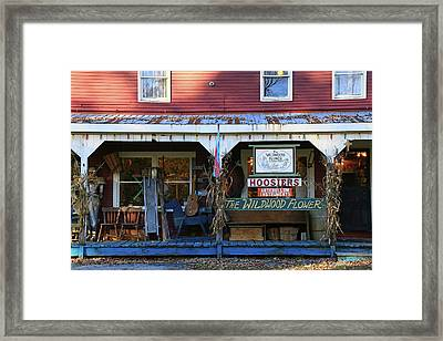 The Wildwood Flower Country Store Framed Print by Allen Beatty