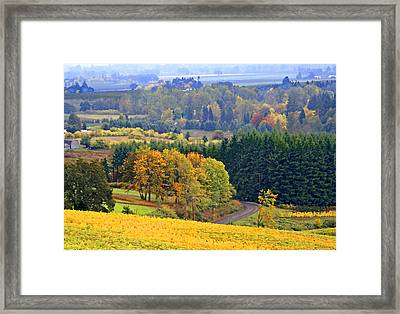 The Willamette Valley Framed Print by Margaret Hood
